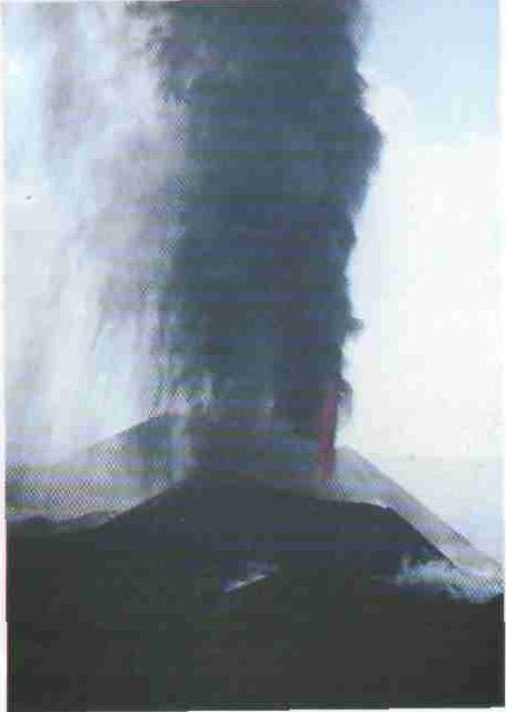 1975 год. Извержение вулкана Толбачика на Камчатке.