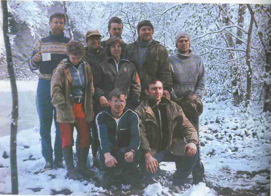 А. Люцко — руководитель одного из зимних лыжных походов по Белоруссии.