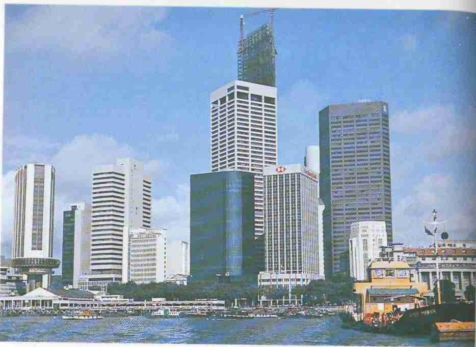 Небоскребы Сингапура.